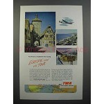 1952 TWA Airline Ad - Touring Europe Now