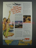 1953 TWA Airline Ad - Quickie Vacation in the Southwest