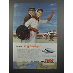 1953 TWA Airline Ad - This Year Let Yourself Go
