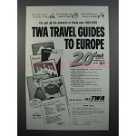 1954 TWA Airline Ad - Travel Guides to Europe