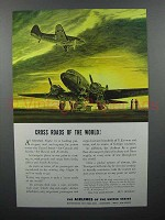 1943 Airlines of the United States Ad - Cross Roads