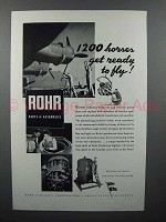 1943 Rohr Aircraft Ad - 1200 Horses Get Ready to Fly