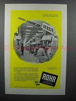 1944 Rohr Aircraft Ad - 5000 Steps to Berlin