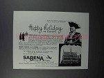 1953 Sabena Airlines Ad - Happy Holiday in Europe