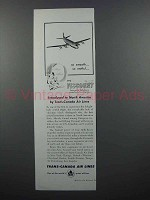 1955 TCA Airlines Ad - The Viscount