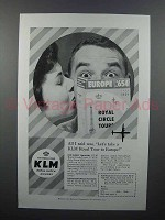 1958 KLM Airlines Ad - Royal Tour to Europe