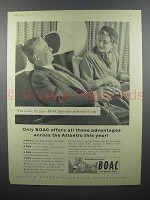 1958 BOAC Airways Ad - Advantages Across the Atlantic