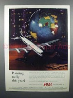 1958 BOAC Airways Ad - Planning to Fly