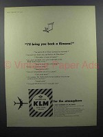 1959 KLM Airlines Ad - I'll Bring You Back a Kimono