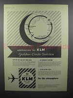 1959 KLM Airlines Ad - Golden Circle Service