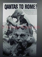 1966 Qantas Airline Ad - Qantas to Rome?
