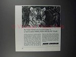 1975 Air India Airline Ad - Himalayan Wildlife Tour