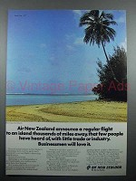 1977 Air New Zealand Ad - An Island Miles Away