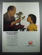 1978 JAL Air Lines Ad - The Way We Still Care