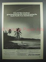 1980 Air New Zealand Ad - South Pacific 30,000 Feet