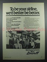 1980 Braniff Airline Ad - We'd Better Be Better