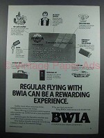 1983 BWIA Airways Ad - A Rewarding Experience