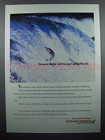 1986 Cathay Pacific Airline Ad - It's Next Flight