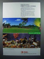 1987 MAS Airline Ad - Excellent First Class Courses