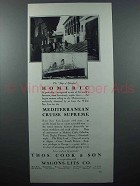 1928 Thos. Cook & Son Cruise Ad - Homeric