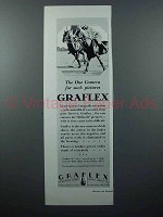 1928 Graflex Camera Ad - Polo Players on Horses