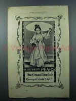 1897 Pears Soap Ad - Great English Complexion