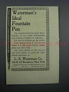 1897 Waterman's Ideal Fountain Pen Ad