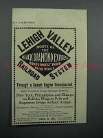 1897 Lehigh Valley Railroad Ad - Handsomest Train in the World