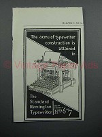 1897 Remington Standard Typewriter Ad