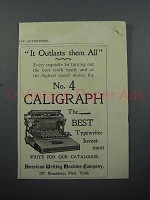 1897 Caligraph No. 4 Typewriter Ad