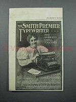 1897 Smith Premier Typewriter Ad - Happiness