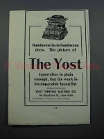 1897 Yost No. 4 Typewriter Ad - Handsome