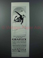 1928 Graflex Camera Ad - Skier - Only One