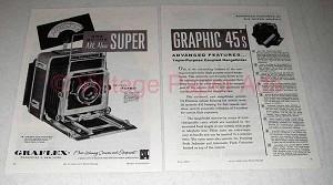 1958 Graflex Super Graphic 45 Camera Ad