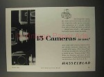 1959 Hasselblad 500C Camera Ad - 15 In One
