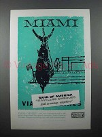1957 Bank of America Travelers Cheques Ad - Miami