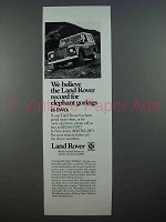 1972 Land Rover Series III Truck Ad - Elephant Gorings