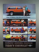 1985 Chevy S-10 Blazer Truck Ad - Drive to Extremes