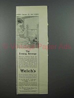 1913 Welch's Grape Juice Ad - Evening Beverage