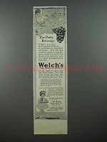 1913 Welch's Grape Juice Ad - The Party Beverage