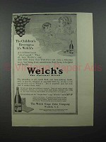 1913 Welch's Grape Juice Ad - Children's Beverage