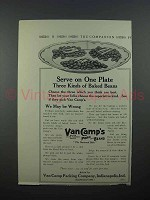 1913 Van Camp's Pork and Beans Ad - One Plate
