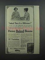 1913 Heinz Baked Beans Ad - There is a Difference