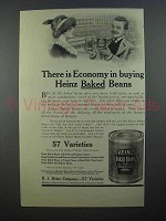1913 Heinz Baked Beans Ad - There is Economy