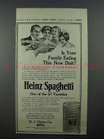 1913 Heinz Spaghetti Ad - Family Eating