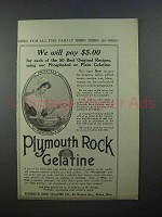 1913 Plymouth Rock Gelatine Ad - We Will Pay