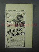1913 Minute Tapioca Ad - Cooking School Recipe