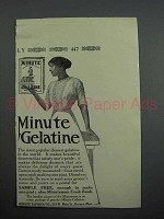 1913 Minute Gelatine Advertisement