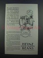1927 Heinz Oven Baked Beans Ad - Real Baking