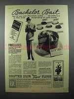 1935 Sperry Drifted Snow Flour Ad - Bachelor Bait